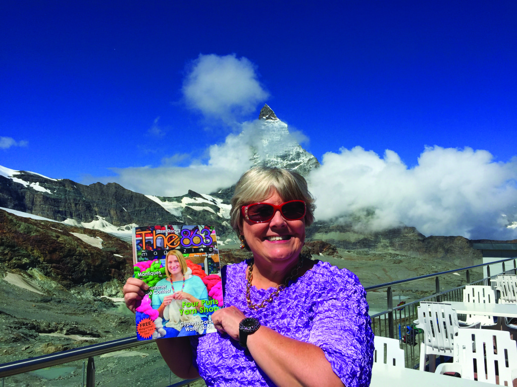 First place went to Mona McKinley from Winter Haven who took The 863 to the Swiss Alps and was photographed with the Matterhorn in the background. Gee, that mountaintop almost looks like a tiara...