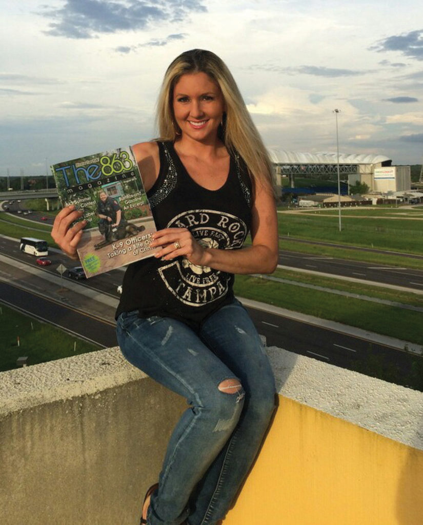 Above: Jill Monday at Tampa, Florida's Hard Rock Casino and Hotel. In the background are I-4 and the Midflorida Credit Union Amphitheater. Submitted by Jill Monday.