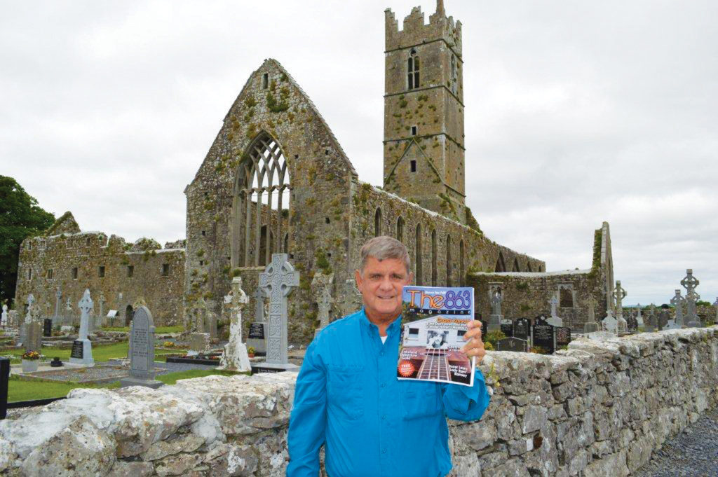 Jack Gillen holds the June 2014 issue in front of the ruins of the Claregalway Franciscan Friary in County Galway, Ireland; submitted by Jack Gillen. Thanks for exposing The 863 to such a historical site, Jack.